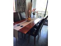 Mahogany table and chairs