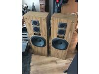Yamaha Retro walnut 140w HUGE floor standing hifi Speakers