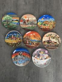 Poole Pottery Seasons Collectors Plates