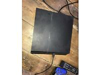 Ps4 black slim 500gb console with headset, controller and three games