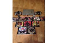 Ps1 games console 2 pads 10 games 1 memory carc