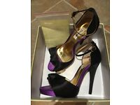 Women's Dune Party Shoes Size 38 Black and Purple