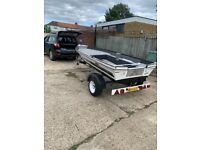 14ft boat,18hp outboard,trailer !!!