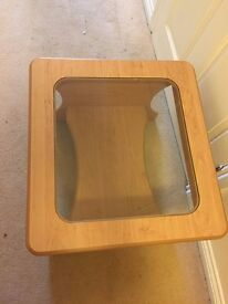 Small/Side wooden and glass Table