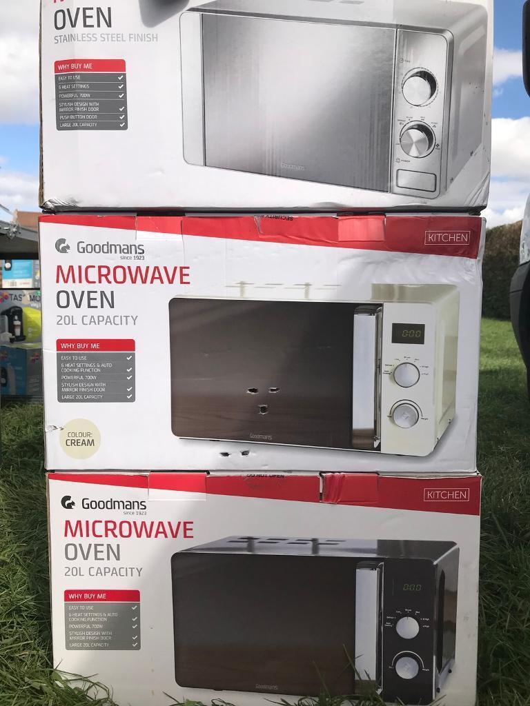 700W Goodmans Stainless Steel Microwave 20L Capacity