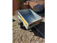 ERDE 122 TRAILER WITH HIGH FRAME COVER AND FLAT COVER