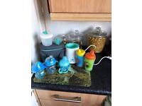 Bottles & warmer & steriliser