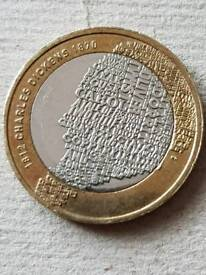 Collectors rare Charles Dickens coin with error