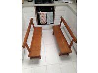 Children's Antique Pine Benches