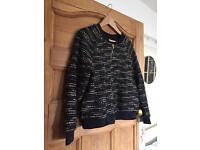 H&M bomber jacket cardigan sparkle size S