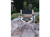 Garden chair ith side table