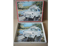 """Vintage """"Emergency Services Series, AMBULANCE"""" Victory wooden puzzle 1973. Complete."""