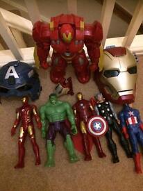 Avengers masks and figures bundle