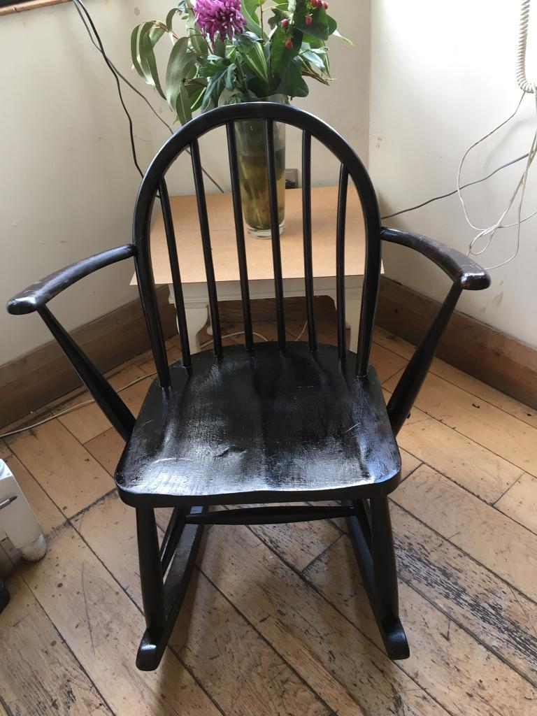 A Lovely Vintage Ercol Childs Small Adult Rocking Chair