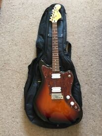 Squier Jagmaster and gig bag