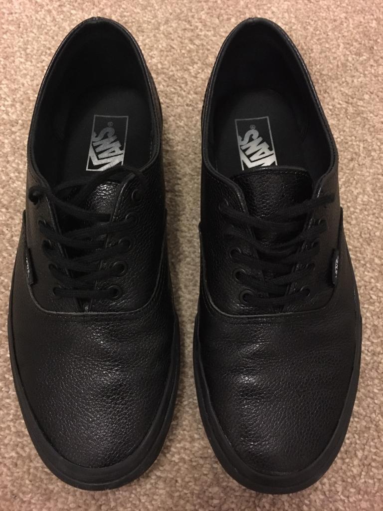 8aa9ff4b2f9d Men s black decon leather vans