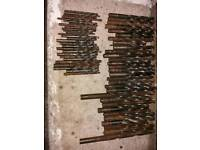 Large collection of drill bits