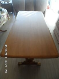 Solid wood (oak?) 'Refectory' style Dining Table