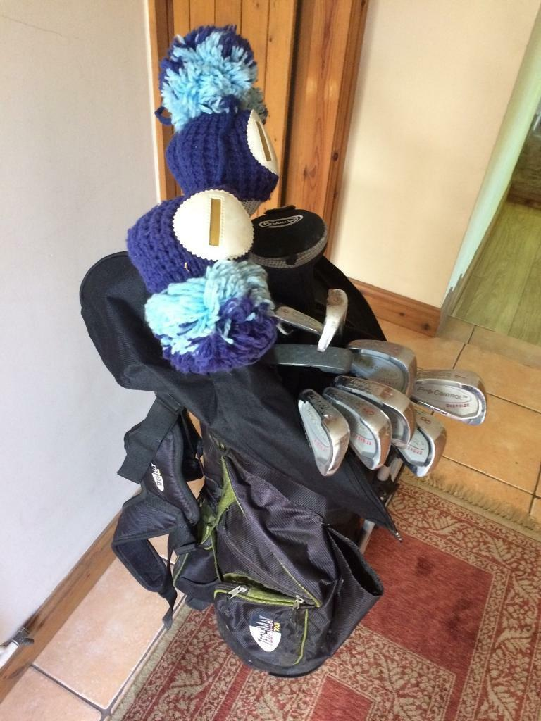 Protactic LEFT-handed golf clubs and tech max our bag