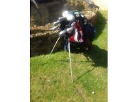 Ladies Lynx & Mizuno golf cubs and bag