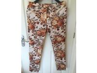 Laura Ashley printed trousers