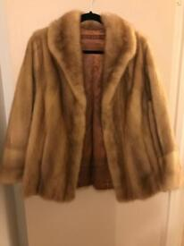 2 Immaculate bespoke genuine vintage real mink fur jackets