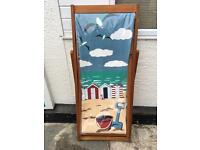 Wooden and canvas deck chair