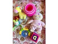 Bundle of baby toys/rattles