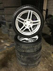 225 45R 17 MICHELIN XICE WINTER SNOW TIRES & MAG RIMS WITH SENSORS 5X114.3 BOLT LEXUS TOYOTA SCION HONDA HYUNDAI KIA