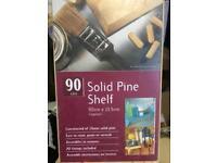 Solid pine shelf 90cm