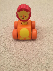 Lion squeaky car toy