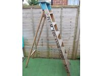 Vintage wooden folding ladders from Rowntree & co York 7 ft