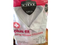 M and S girls school blouses
