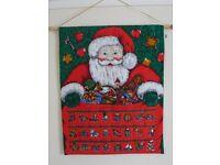 Handmade fabric advent calendar