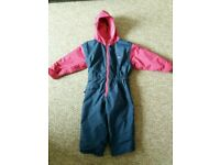 Togz Toddler Warm and Dry All in one fleece lined waterproof suit Age 2/3