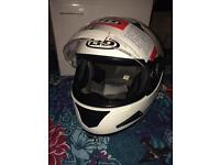 Brand new white motorbike helmet, medium fit