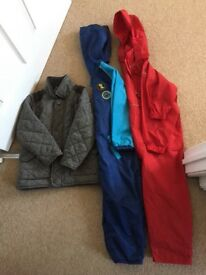 Selection of age 4-5years coats&splash suits