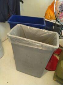 SIX Rubber Maid Slim Jim Catering bins central London bargain