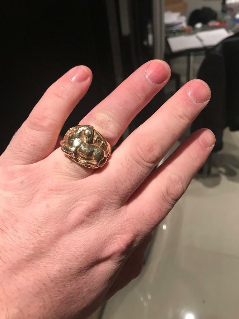 Huge gold ring keeper ring saddle ring 1 off horse ring I phone 8 x ...