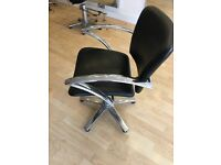 8 Hairdressing chairs black & chrome collect only!! £10 for all!!