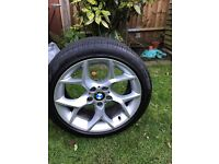 BMW X1 runflat tyres with rims x4