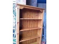 Gorgeous Pine Bookshelves