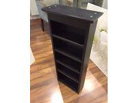 Ikea Freden wooden shelf unit in black-brown colour