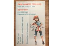 MISS MUSCLE CLEANING/ domestic cleaning services