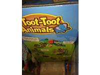 Toot toot car track and animal tracks