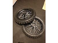 Stomp pit bike - Brand new small wheels & tyres