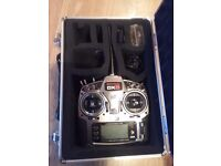 Rc Spectrum dx8 with case and receivers