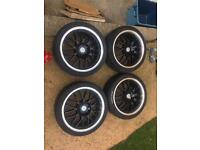 4 x 100 17 inch alloys with good tyres (205/40/17)