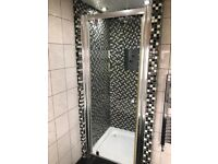 Chrome Shower Door with magnetic seal
