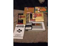 Nintendo, snes, boxed zelda link to the past